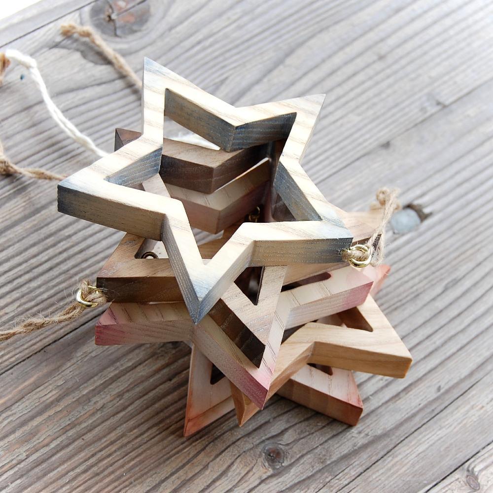Drevená Hviezda Zornička-drevená hviezda- dekorácia drevená hviezda-vianočná dekorácia